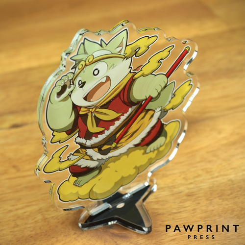 The Spicy Ninja Scrolls - Acrylic Stand (Wu-Kong themed)