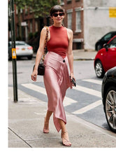 Load image into Gallery viewer, Pink Romance Midi Skirt