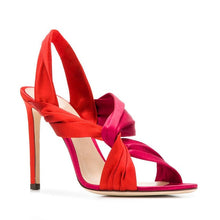 Load image into Gallery viewer, Venus Rising Satin Sandals