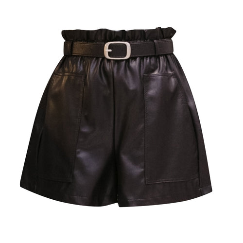Killin' 'Em Leather High-Waisted Shorts