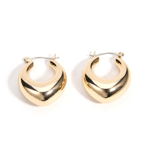Bella Thick Hoop Earrings