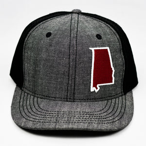 Alabama - Crimson Red & White