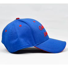 "Load image into Gallery viewer, ""God Bless America"" Royal Blue Cap"
