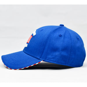 """God Bless America"" w/ American Flag Bill in Royal Blue"
