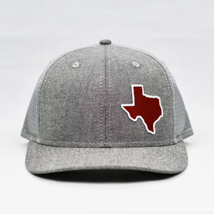 Texas - Maroon & White