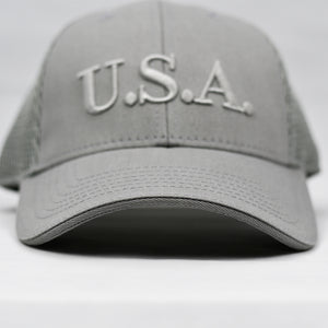 """U.S.A"" Embroidered in Grey"