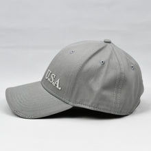 "Load image into Gallery viewer, ""U.S.A"" Embroidered FR in Grey"