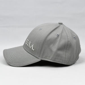 """U.S.A"" Embroidered FR in Grey"