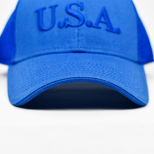 """U.S.A"" Navy Embroidered in Royal Blue"