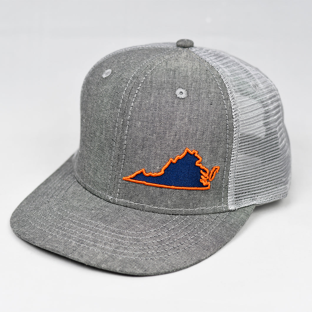 Virginia - Navy Blue & Orange