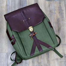 Load image into Gallery viewer, Artisti Leather & Canvas Backpack
