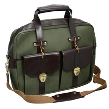Load image into Gallery viewer, Artisti Leather & Canvas Messenger Bag