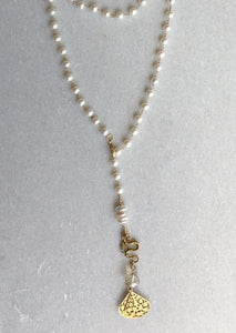 Pearl Linked Lariat
