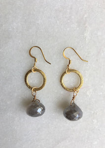 Circle Loop Drop Earrings