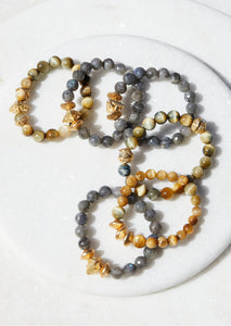 Lab and Tiger's Eye Bracelets