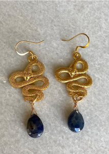 Sinuous Snake Earrings