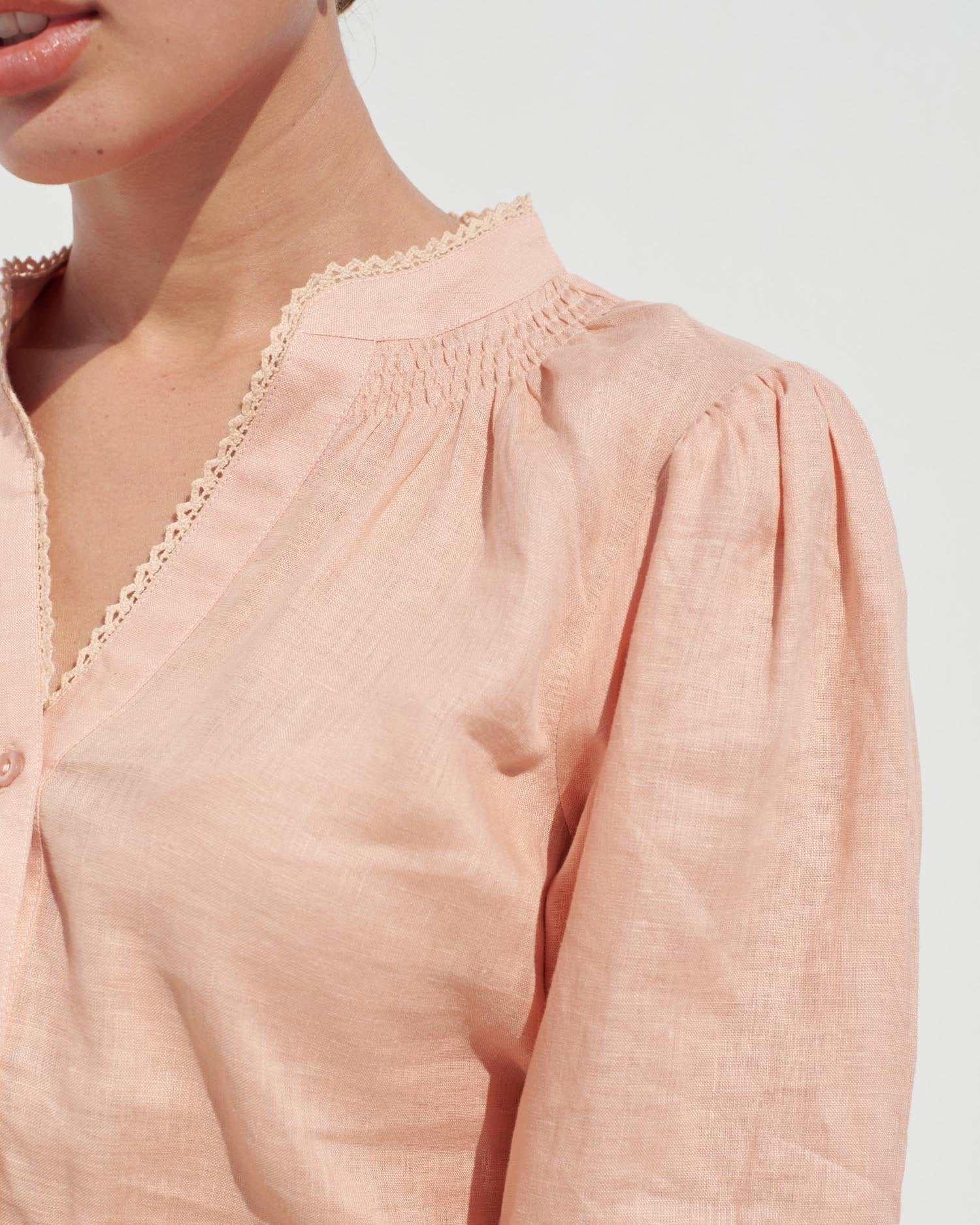 Color:Deep blush linen; Color: Deep blush linen