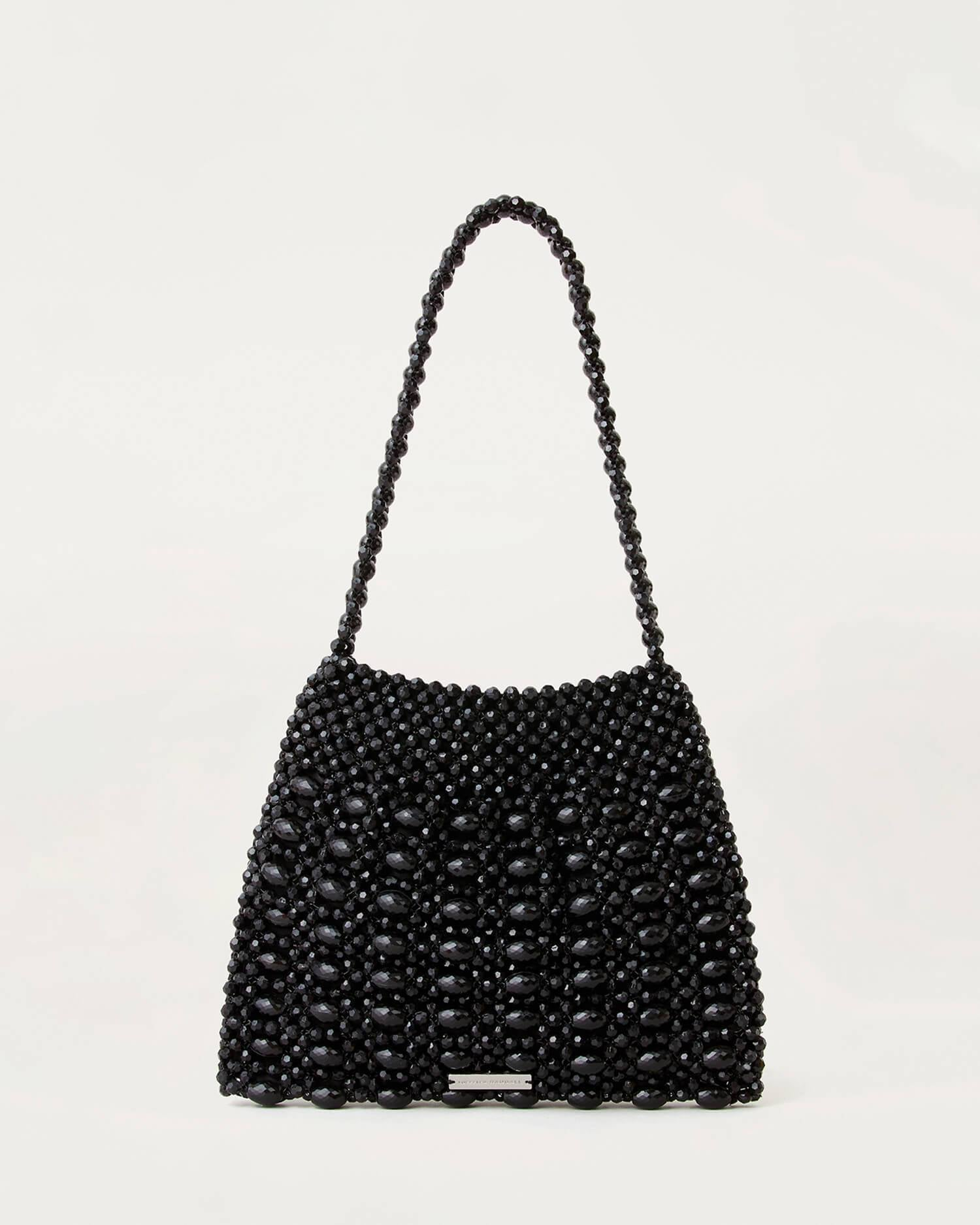 Color:Black beads; Color: Black beads