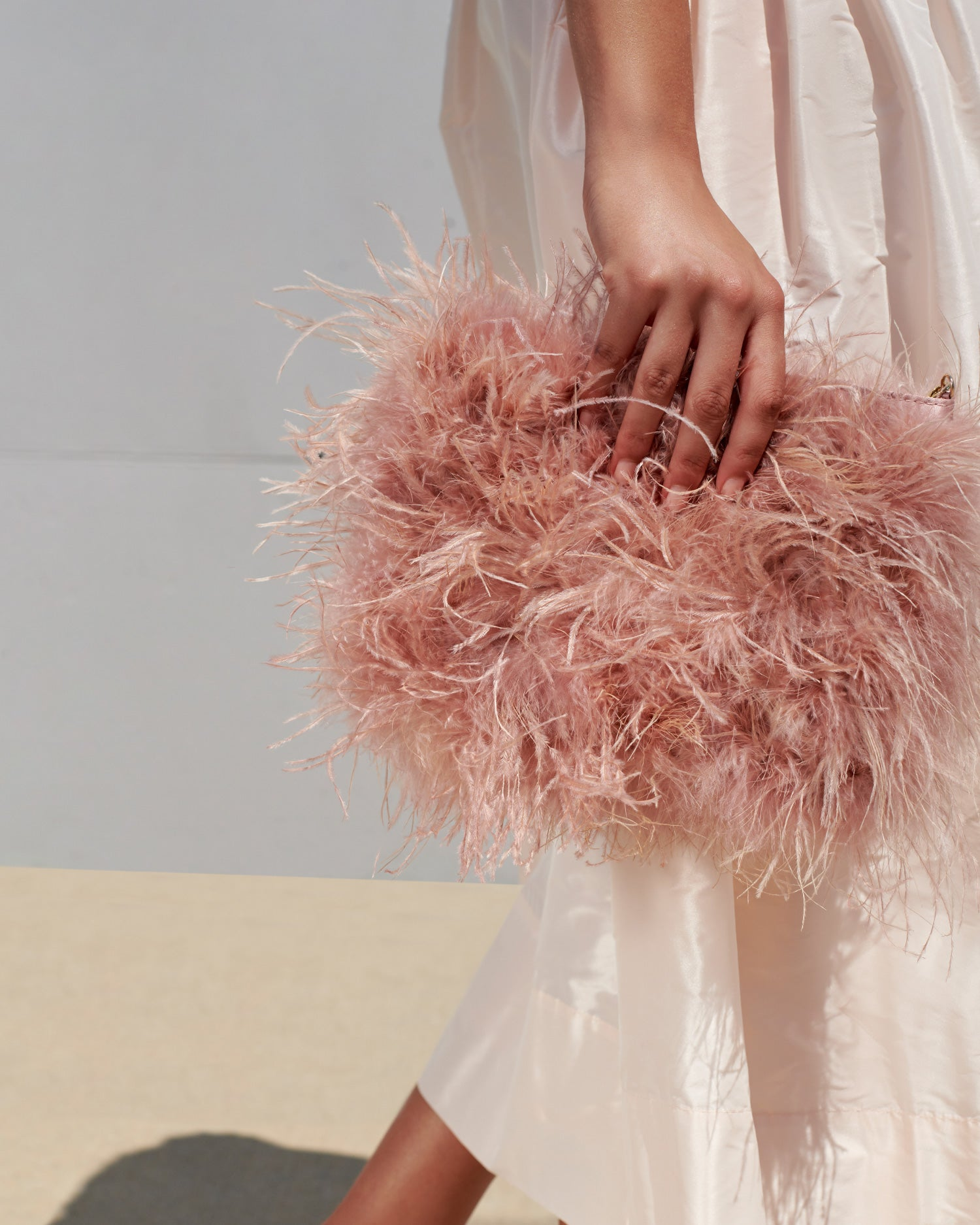 color: Buff pink feathers