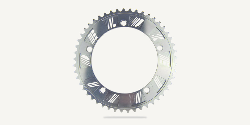 Corona Deluxe Cycles por Bespoke Chainrings - Silver