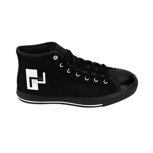 Katakage Brand Men's High-top Sneakers (Black)