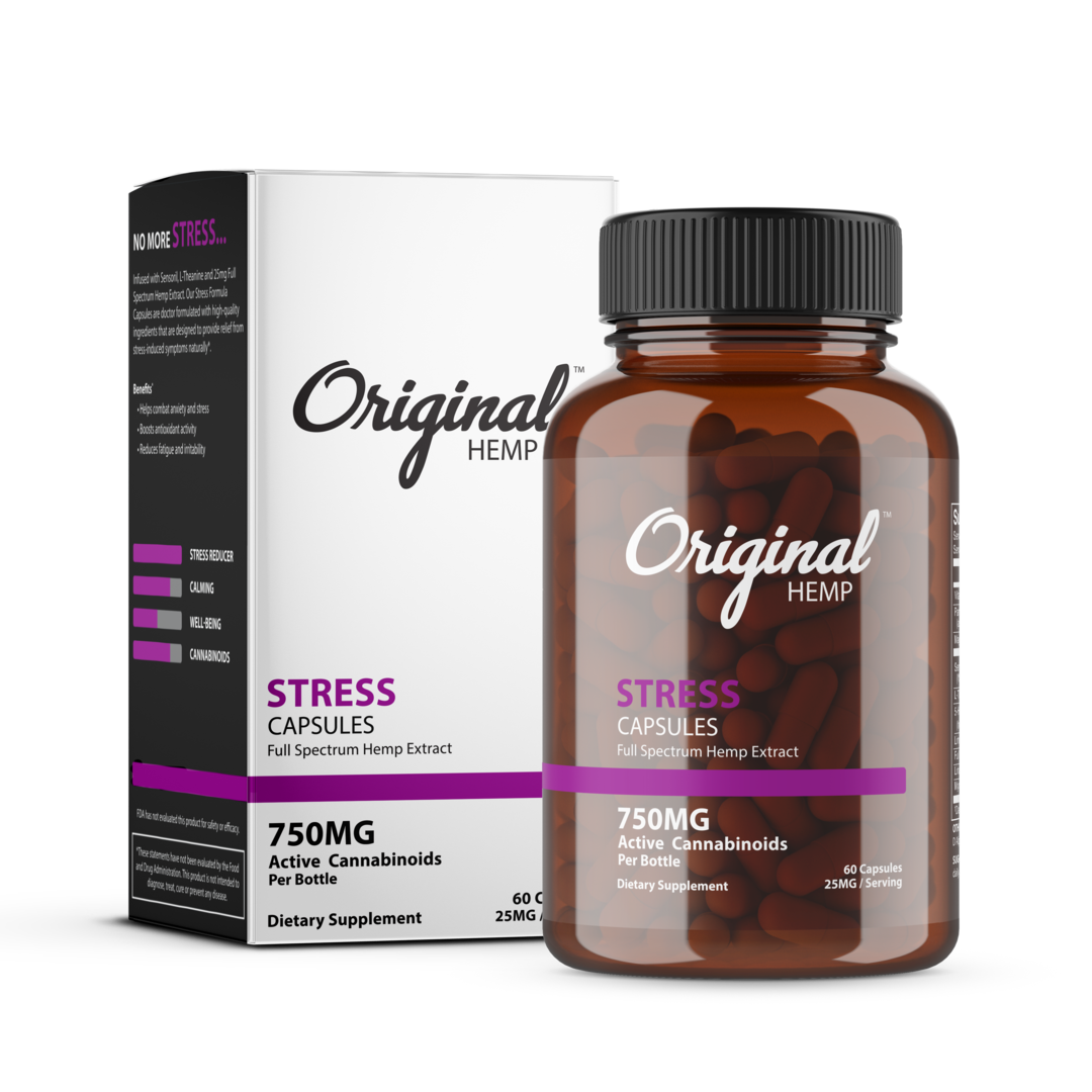 Stress Capsules (750MG) Full Spectrum Hemp Extract