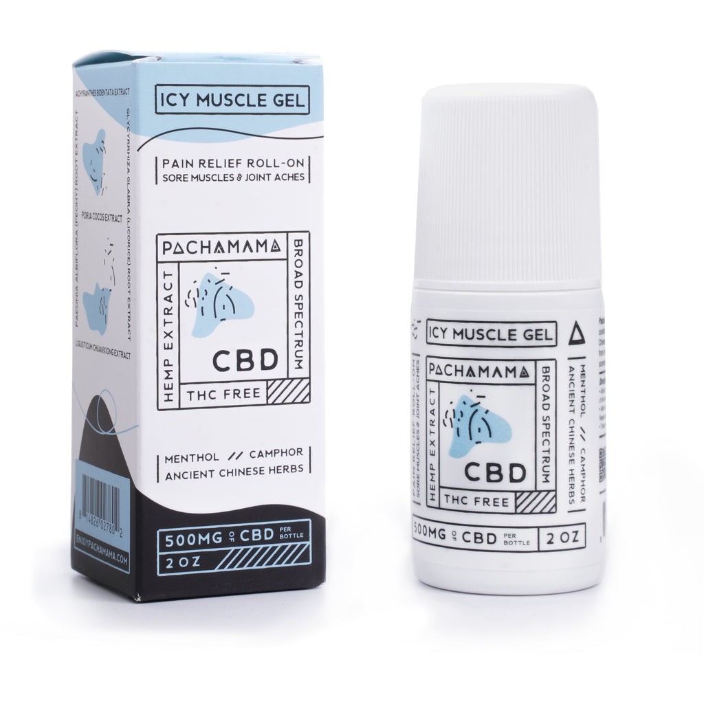 Pachamama Icy Muscle Gel Roll On - Kerwell: Premium CBD House