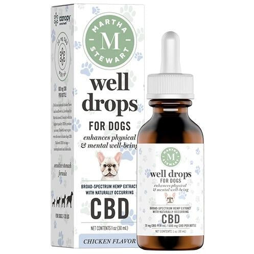 MARTHA STEWART CBD WELL DROPS CHICKEN FLAVOR OIL DROPS