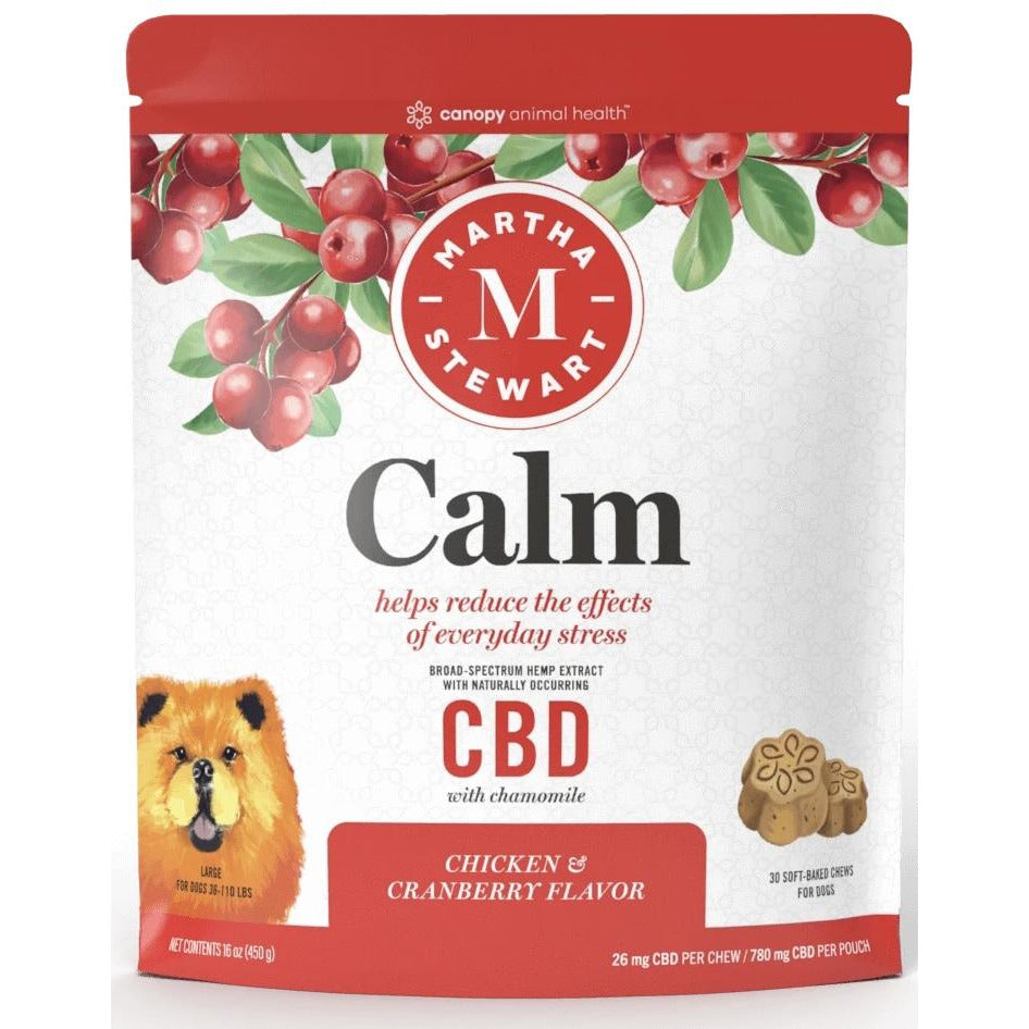 MARTHA STEWART CBD CALM CHICKEN AND CRANBERRY FLAVOR SOFT BAKED CHEWS