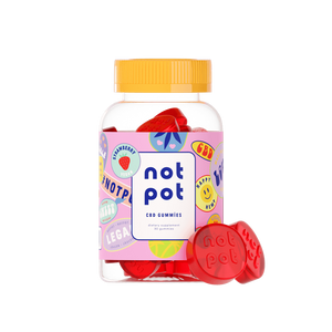 Not Pot Strawberry Gummies - Kerwell: Premium CBD House