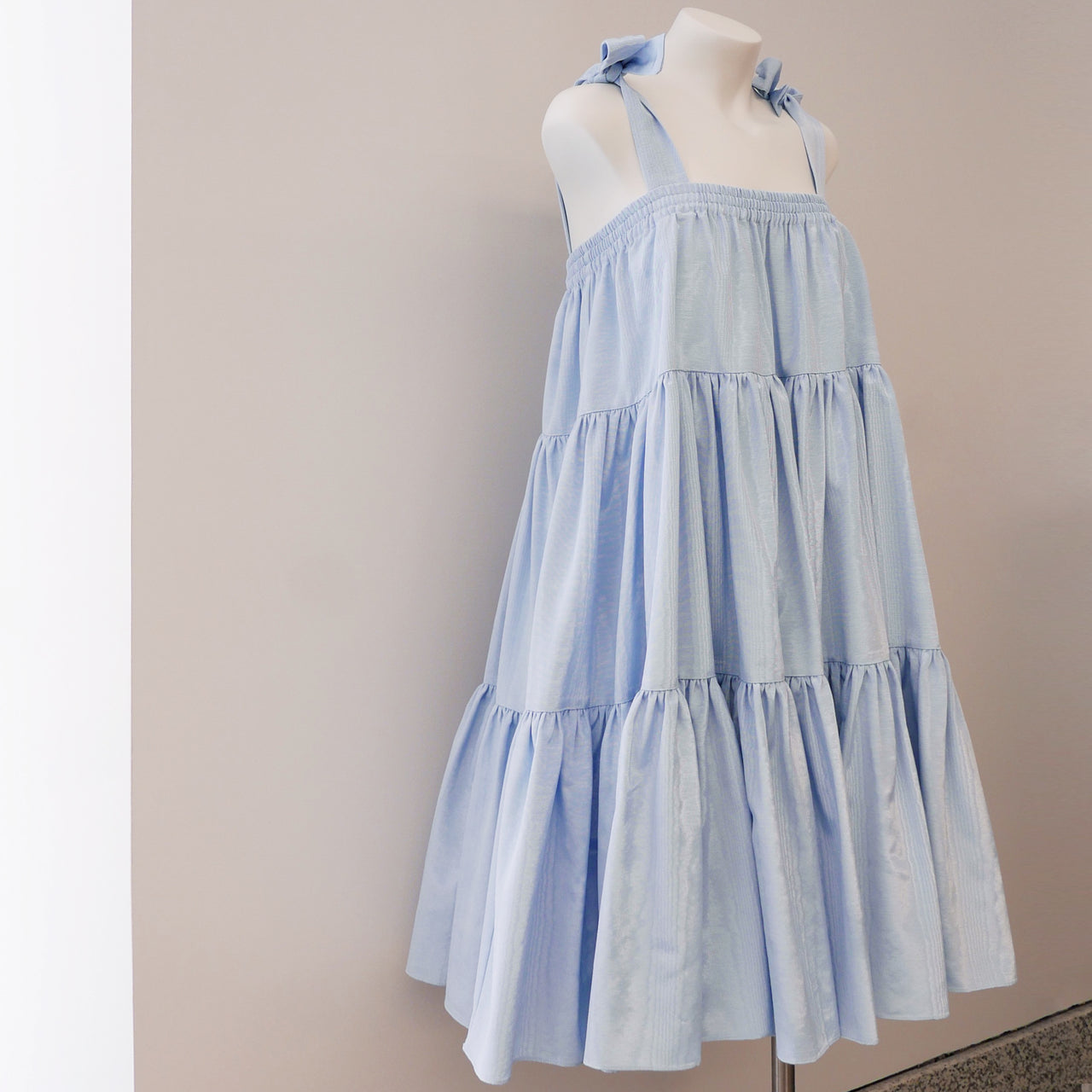 Amy Dress/Skirt in Blue Moiré
