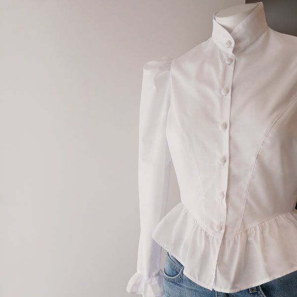 Grace Blouse in White Cotton