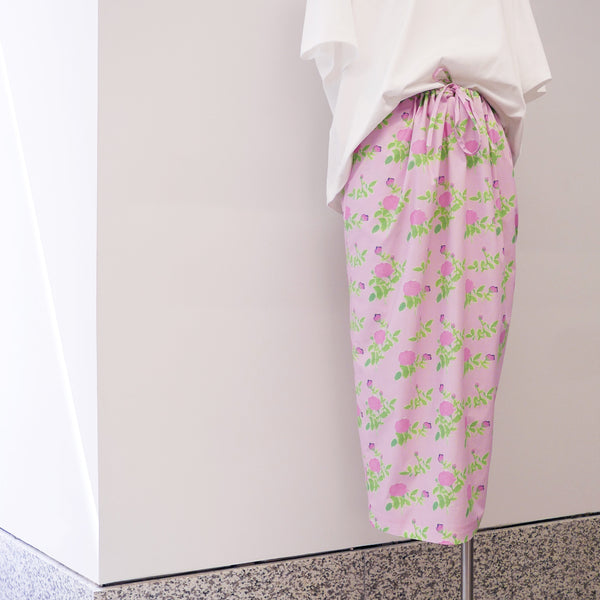 Balloon Skirt in Pink Roses