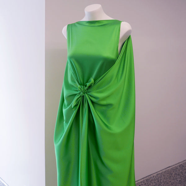Judy Silk Satin Maxi Dress in Bright Green