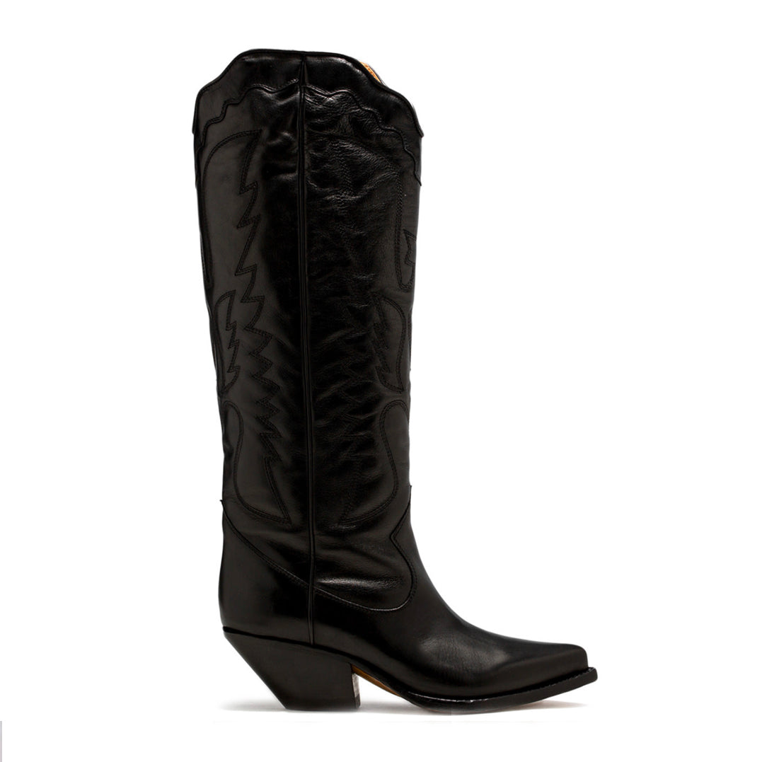 Cowboy Boot in Nero