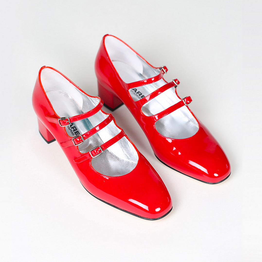 Kina Babies Patent Leather Red