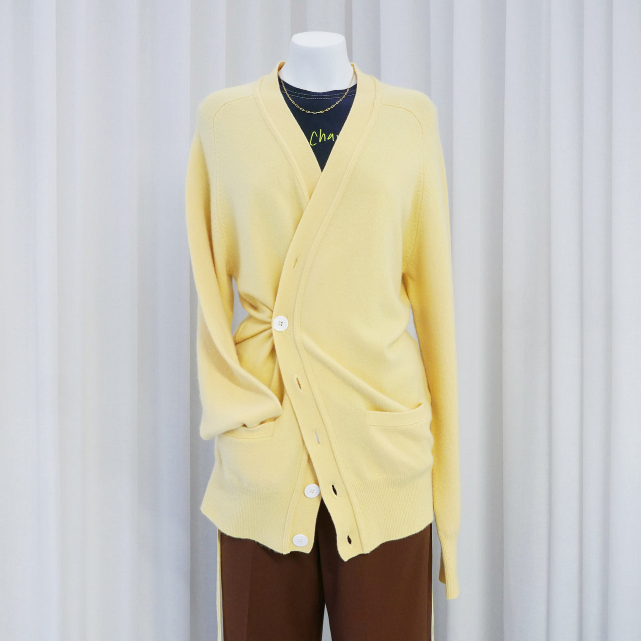 Cashmere Cardigan in Banana
