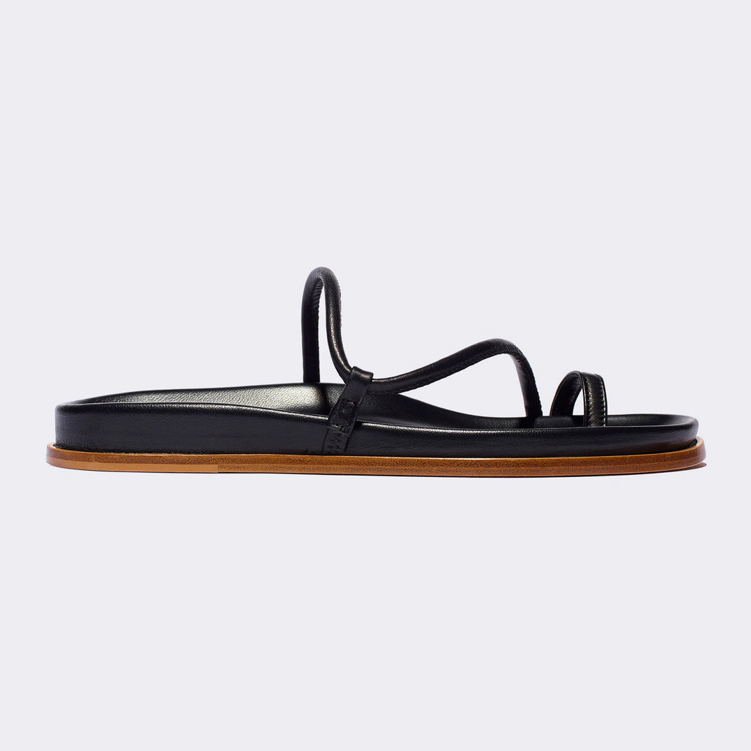 Bari Sandal in Black Nappa