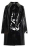 Above the Knee Lacquer Black Trenchcoat