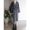 Wrap Coat in Wool Medium Grey