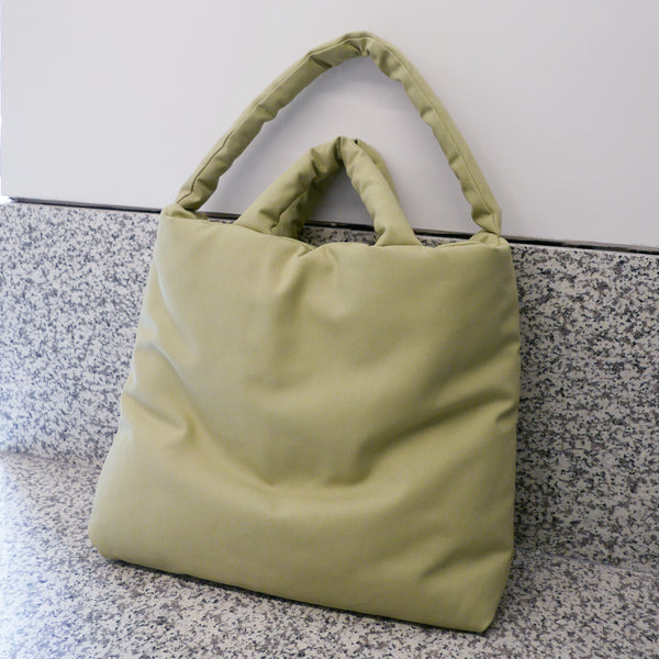 Pillow Bag L - Canvas Green Tea