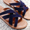 Seraya Suede Sandals in Navy