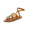 Segala Leather Sandals in Natural Tan