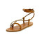 Tiresias Leather Sandals in Natural Tan