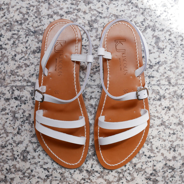 Erka Leather Sandals in White