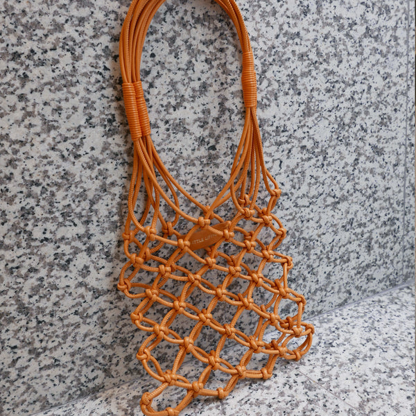 LITTLE LIFFNER Knotted Mini Tote Orange