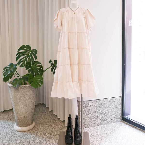 Alegre Tiered Dress in Light Pink