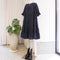 Paradis Tiered Dress in Navy