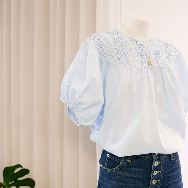 Paz Blouse in Light Blue