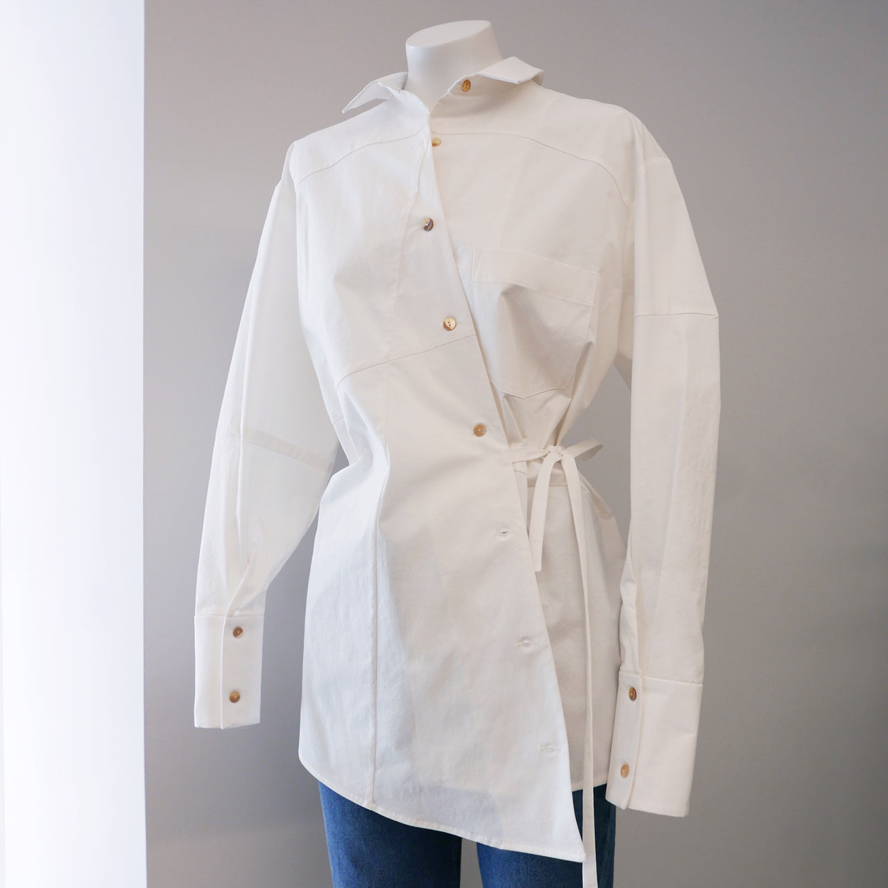 Tatiana Cotton Shirt in White